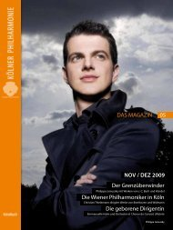 das magazin 11/12 2009 - Kölner Philharmonie