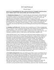 FUT United-Wettbewerb Offizielle Regeln KEIN ... - Electronic Arts