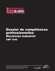 Dossier de compétences professionnelles : Électricien (industriel)