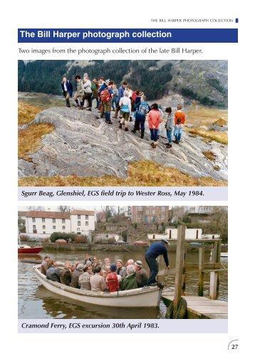 The Bill Harper photograph collection - Edinburgh Geological Society
