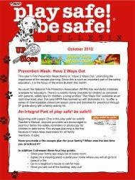October 2012 - Play Safe! Be Safe!