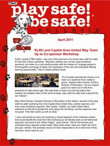 April 2012 - Play Safe! Be Safe!