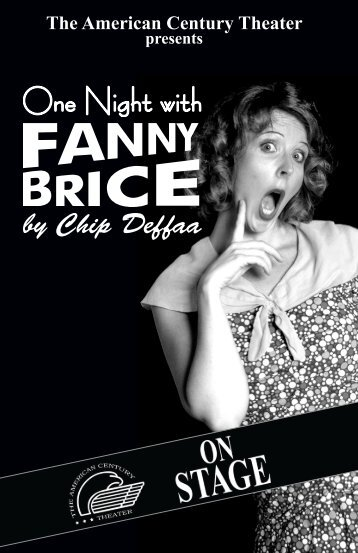 One Night with Fanny Brice - The American Century Theater