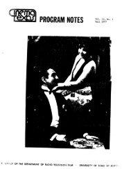 Vol. 13, No. 1 Fall 1977 - CinemaTexas Notes