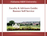 Faculty & Advisors Guide: Banner Self Service - Welcome to ...