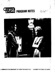 Vol. 11 No. 4 - CinemaTexas Notes
