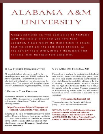 Click Here - Welcome to Alabama A&M University