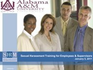 Sexual Harassment and Discrimination - Welcome to Alabama A&M ...