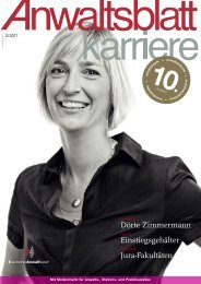 Anwaltsblatt Karriere - Deutscher Anwaltverein
