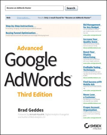 Advanced Google AdWords (3td Ed)