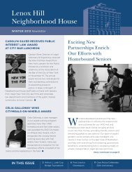 Winter 2013 Newsletter - Lenox Hill Neighborhood House