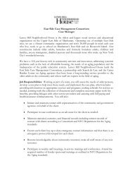 Job Description Case Manager - Lenox Hill Neighborhood House