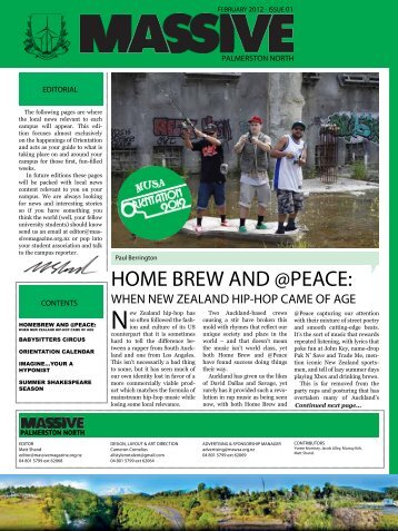 HOME BREW AND @PEACE: - Massive Magazine