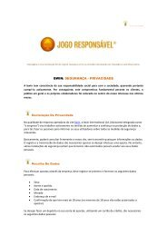 BWIN: SEGURANÇA - PRIVACIDADE - Jogo Remoto