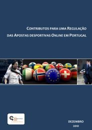 Contributos para uma regulaçãoo das apostas ... - Jogo Remoto