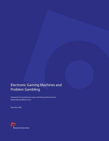 Electronic Gaming Machines and Problem Gambling - Jogo Remoto