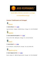 Portugal: 11 Casinos Tradicionais - Jogo Remoto