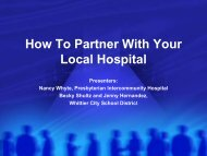 How To Partner With Your Local Hospital - Healthy Behaviors ...
