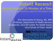 Instant Recess® - Healthy Behaviors Conference