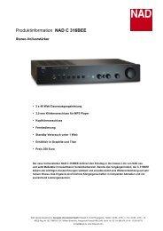 Produktinformation NAD C 316BEE - Media Seller OHG