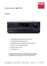 Produktinformation NAD T 737