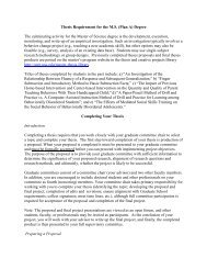 Guidelines for a Prospectus | Department of History