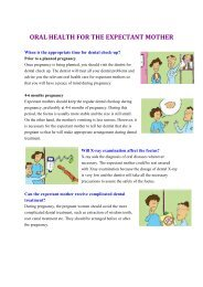 Oral Health for the Expectant Mother (Leaflet) (PDF)