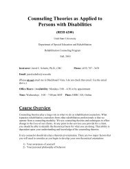 Counseling Theories as Applied to Persons with Disabilities