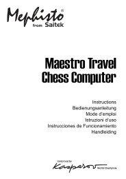 Mephisto Maestro Travel Chess Computer - Saitek.com