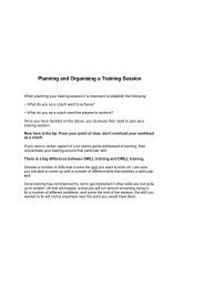 Planning and Organising a Training Session - Doncaster Hockey Club