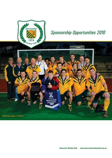Sponsorship Opportunities 2010 - Doncaster Hockey Club