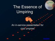 The Essence of Umpiring - Doncaster Hockey Club