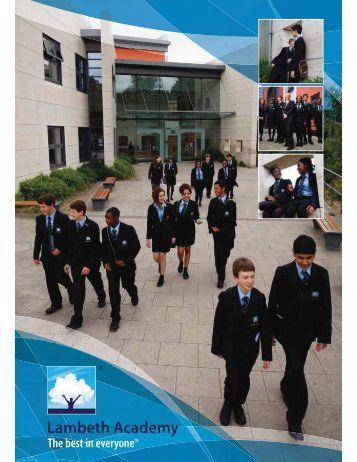 Lambeth Prospectus PR.indd - Lambeth Academy