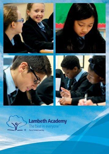 Lambeth Academy Prospectus
