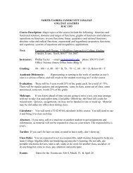 MAC 1105 College Algebra - North Florida Community College