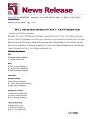 NFCC announces winners of Colin P. Kelly Freedom Run
