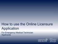 Online Licensure Application