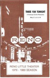 Three for Tonight - Reno Little Theater
