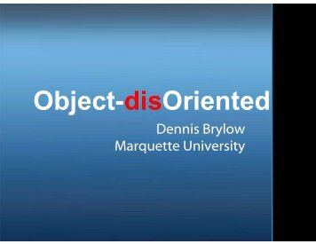 Object-disOriented - Science Education in Computational Thinking