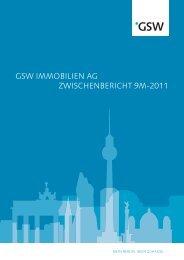 GSW IMMOBILIEN AG ZWISCHENBERICHT 9M-2011