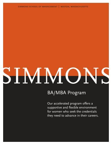 BA/MBA Program - Simmons College