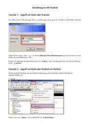 Anmeldung im MS Outlook Variante 1. - Zugriff auf Mails über ... - EDIS