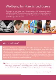 Wellbeing for Parents and Carers - KidsMatter