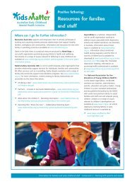Resources for families and staff [3MB] - KidsMatter