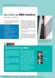 Sekretariatet bag mba - Malerfagets Behandlingsanvisninger