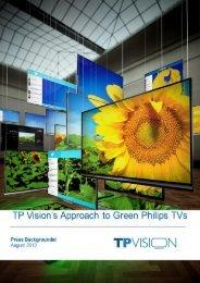 TP Vision´s Ansatz für grüne Philips TVs