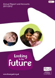 Annual Report and Account 2011/2012 - CLIC Sargent