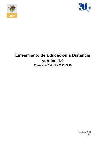 Lineamiento de Educación a Distancia.pdf - ITCJ
