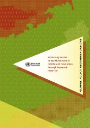 Increasing access to health workers in remote and ... - libdoc.who.int
