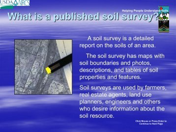 How to Use a Published Soil Survey